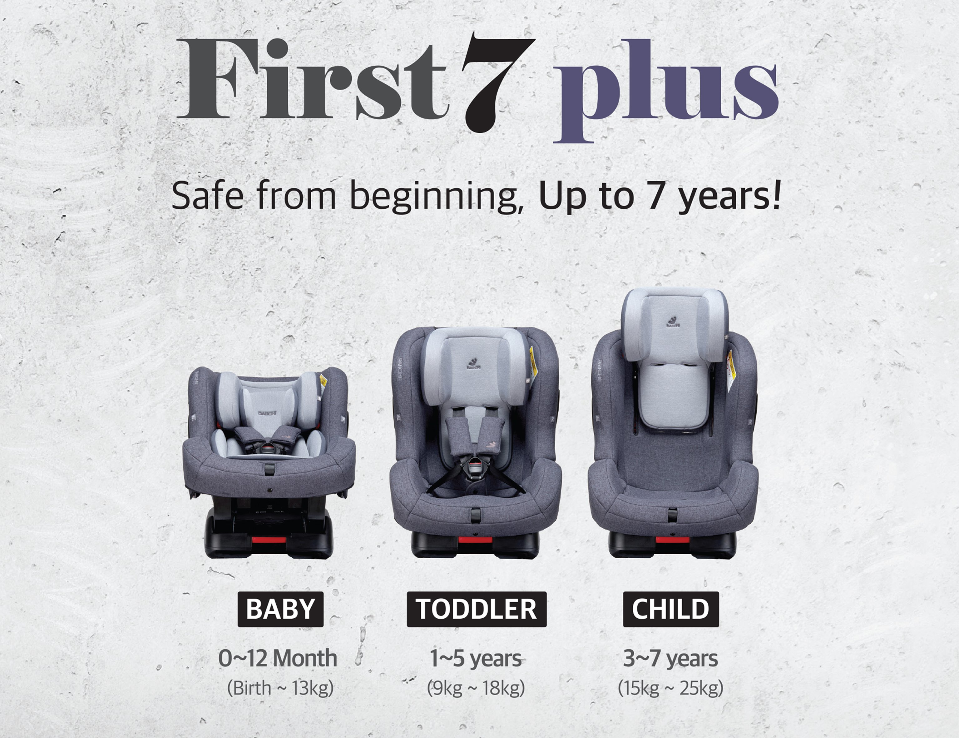 DAIICHI CAR SEAT FIRST7 PLUS CHARCOAL