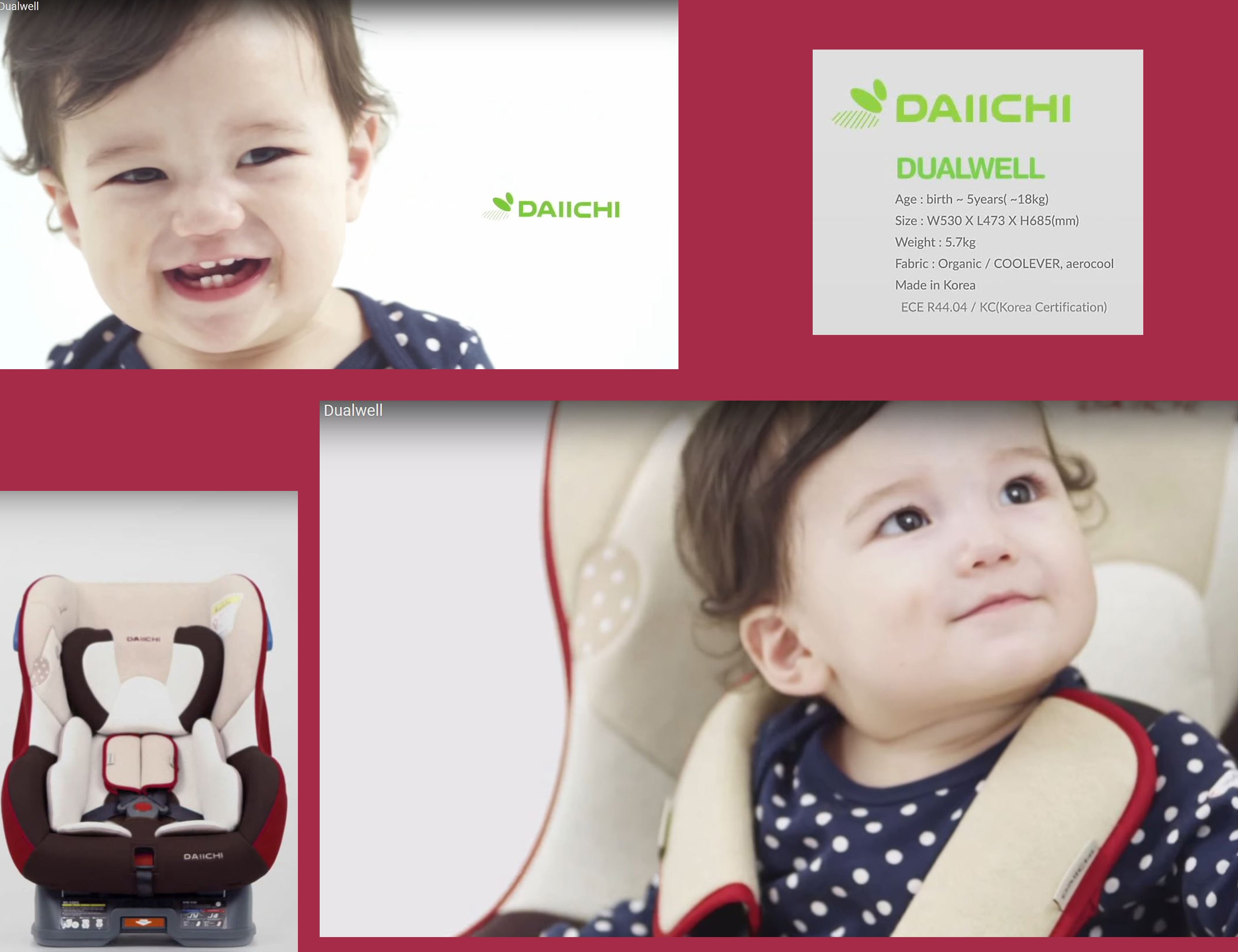 DAIICHI CAR SEAT DUALWELL ORGANIC RED Features 2