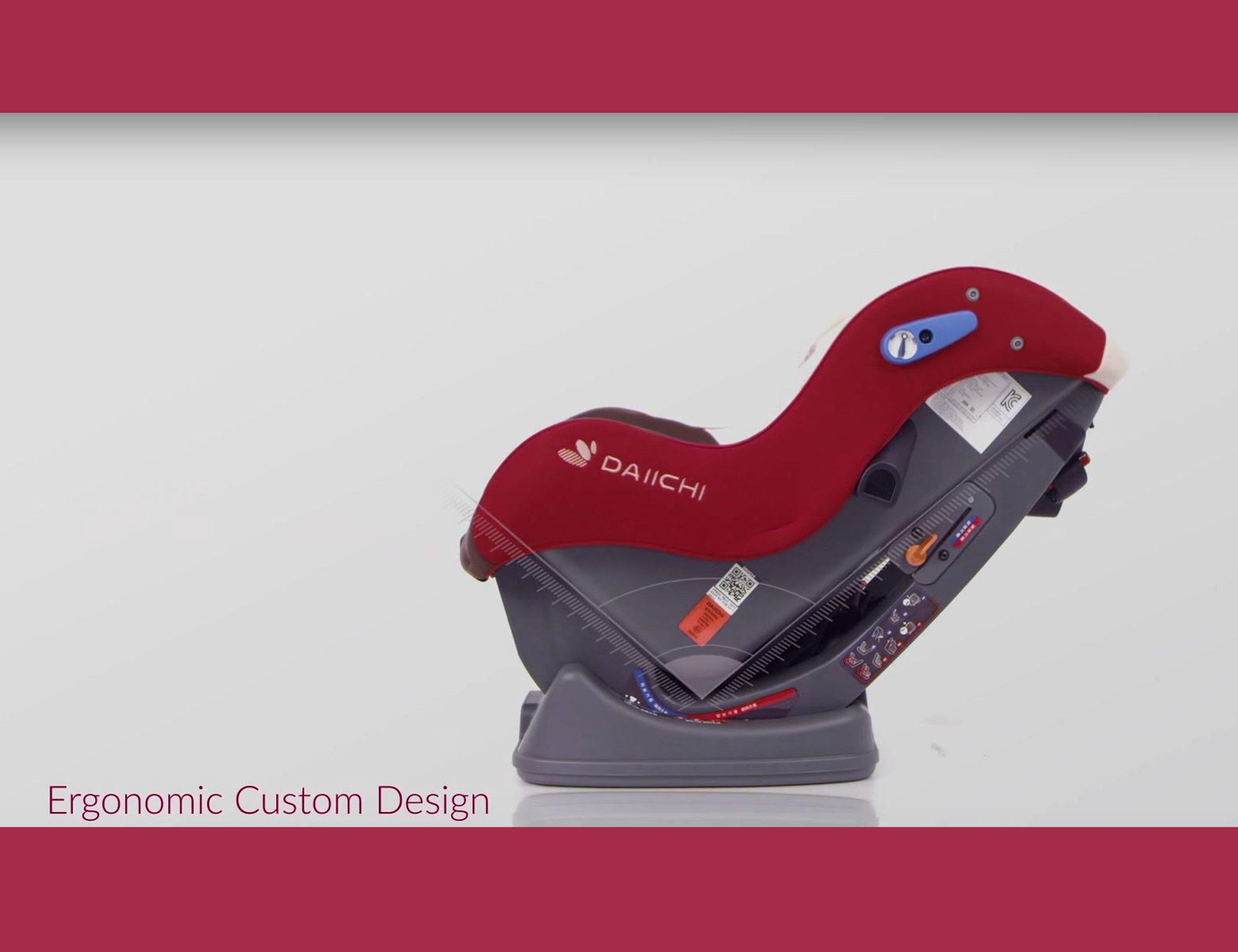 DAIICHI CAR SEAT DUALWELL ORGANIC RED Ergonomic
