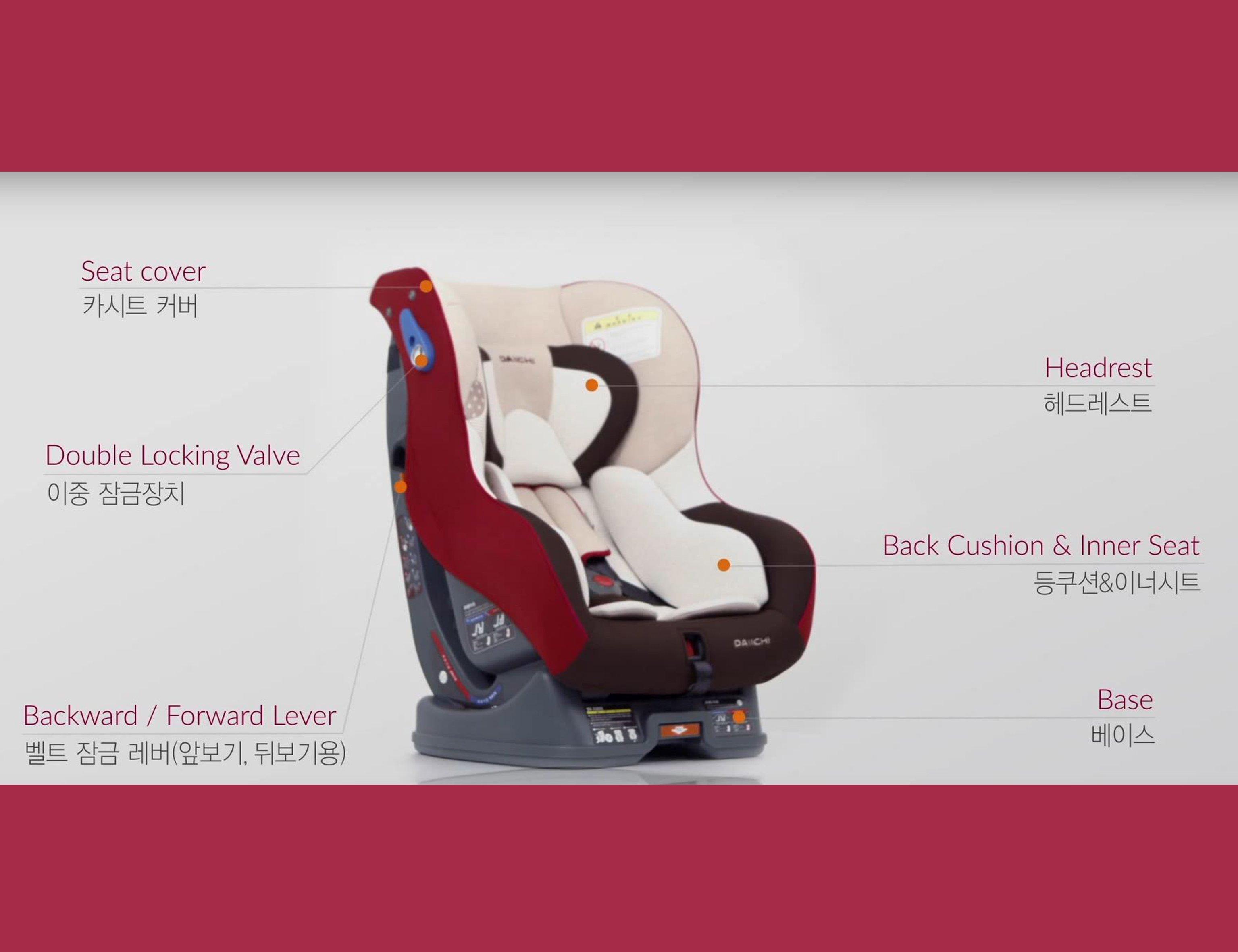 DAIICHI CAR SEAT DUALWELL ORGANIC RED 3
