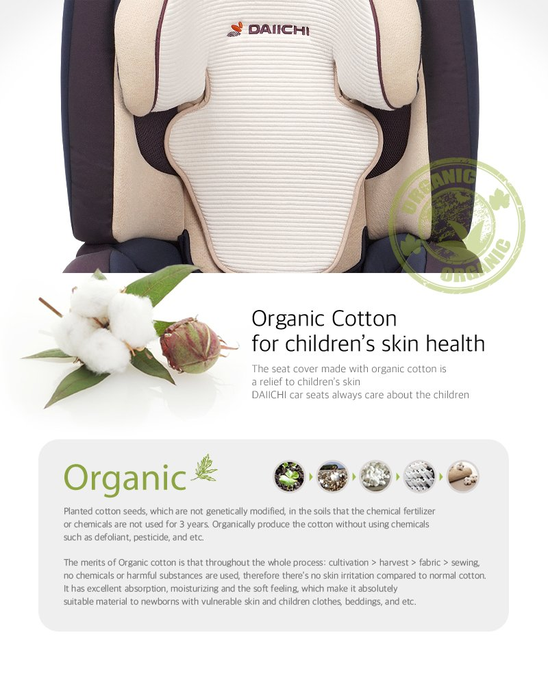 Daiichi D-Guard Junior Organic FIX car seat health skin
