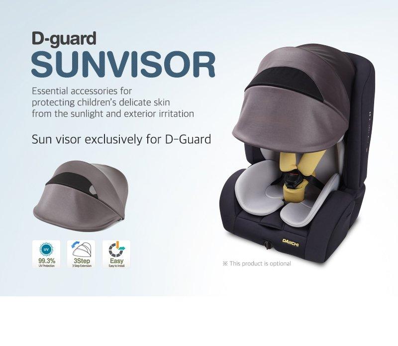 Daiichi D-Guard Junior Organic FIX car seat sunvisor