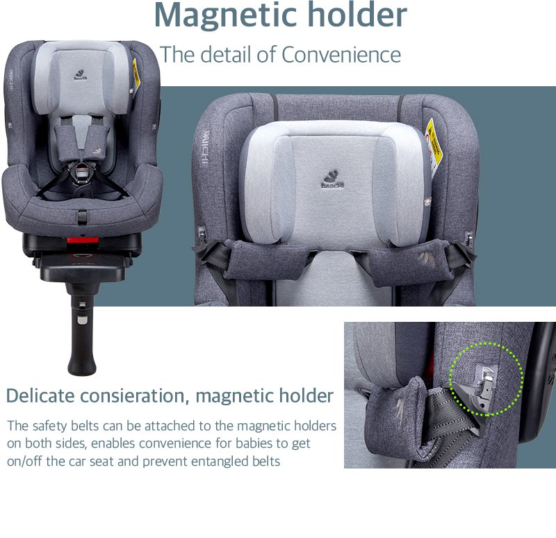 DAIICHI CAR SEAT FIRST7 PLUS ORGANIC BROWN Magnetic Holder